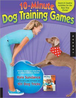 10 minutes dog training games